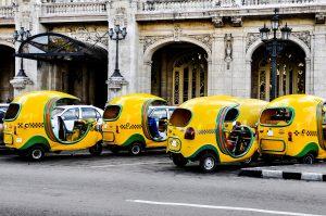 Coco taxi's in Cuba