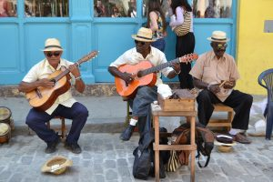 Straatmuzikanten in Havana, Cuba